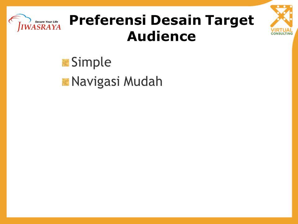 Preferensi Desain Target Audience Simple Navigasi Mudah