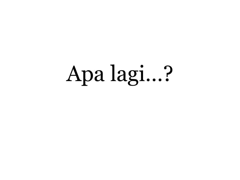 Apa lagi…?