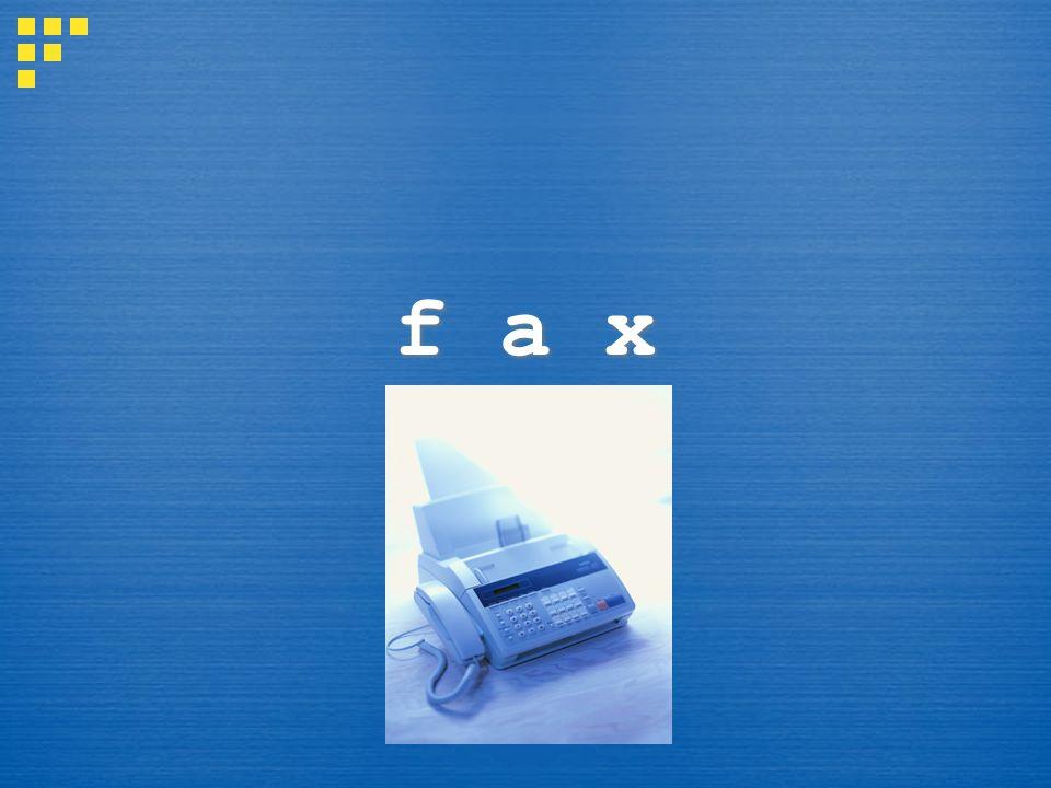 f a x