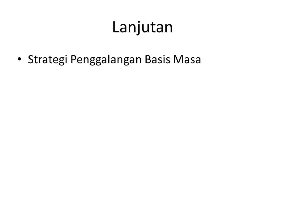 Lanjutan Strategi Penggalangan Basis Masa