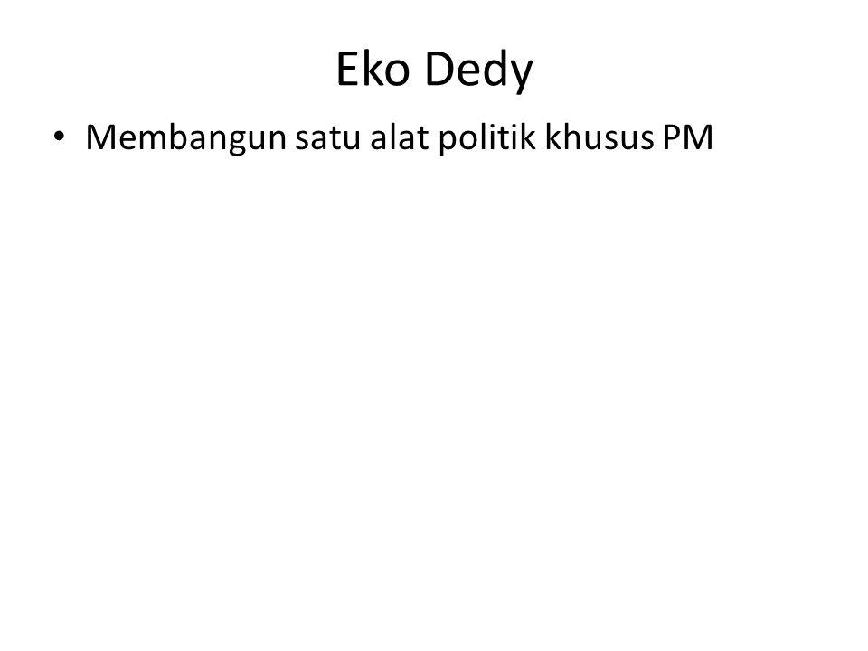 Eko Dedy Membangun satu alat politik khusus PM
