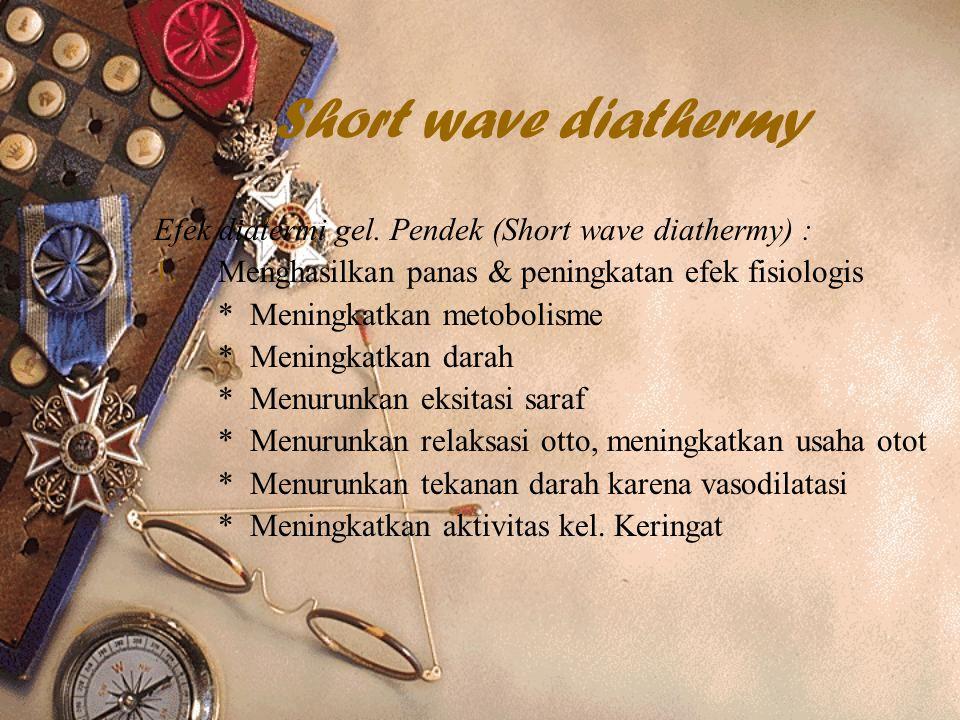 Short wave diathermy Efek diatermi gel.