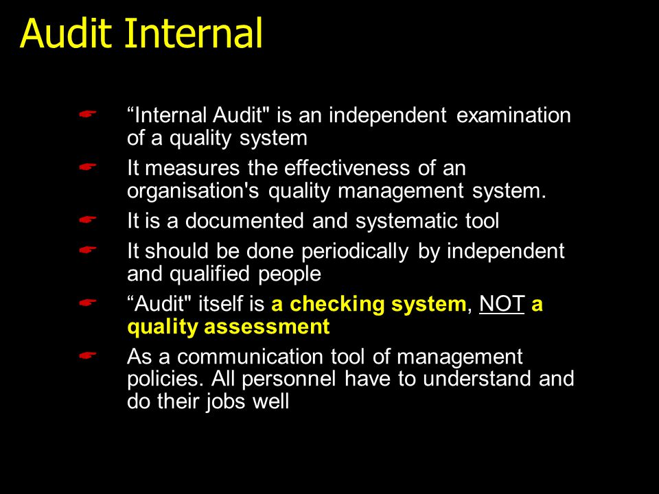 " ""Internal Audit"