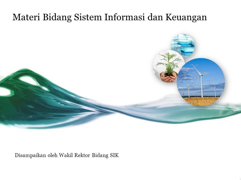 Materi Bidang Sistem Informasi dan Keuangan Disampaikan oleh Wakil Rektor Bidang SIK