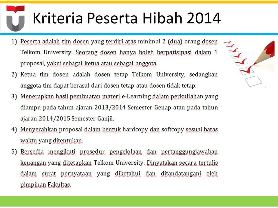 Kriteria Peserta Hibah 2014