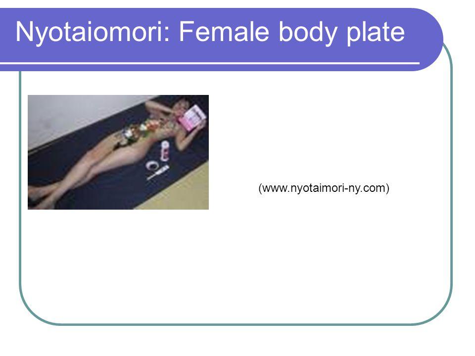 Nyotaiomori: Female body plate (www.nyotaimori-ny.com)