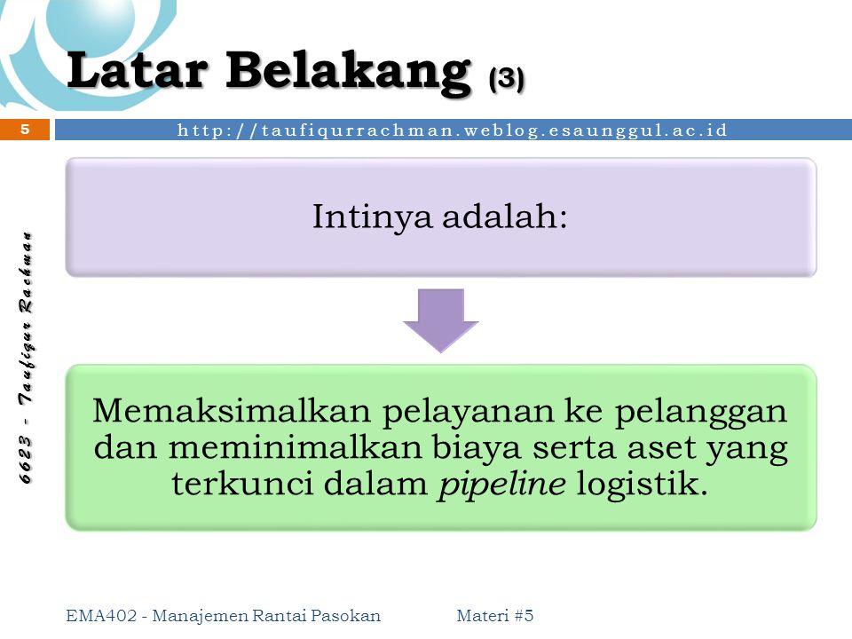 http://taufiqurrachman.weblog.esaunggul.ac.id 6 6 2 3 - T a u f i q u r R a c h m a n Latar Belakang (3) Intinya adalah: Memaksimalkan pelayanan ke pe