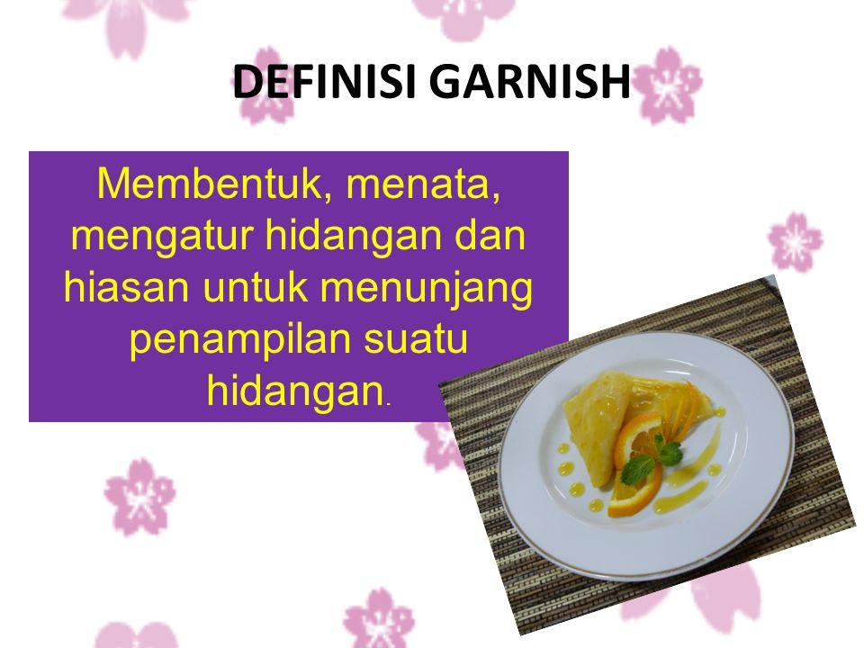PELETAKKAN GARNISH GURIH