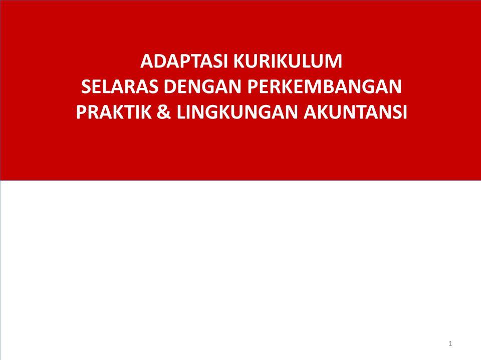 ADAPTASI KURIKULUM SELARAS DENGAN PERKEMBANGAN PRAKTIK & LINGKUNGAN AKUNTANSI 1