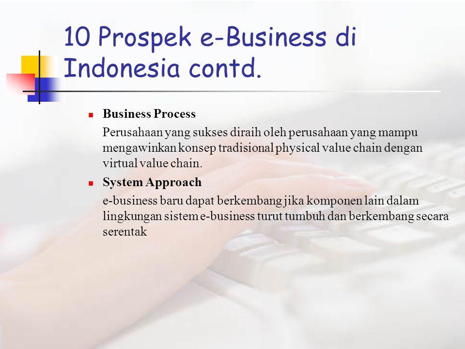 10 Prospek e-Business di Indonesia contd.