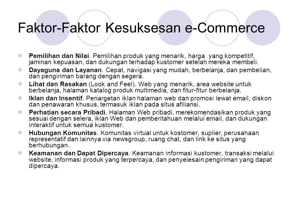 Tipe-Tipe Pangsa Pasar e-Commerce One to many: Pangsa pasar di sisi penjualan.
