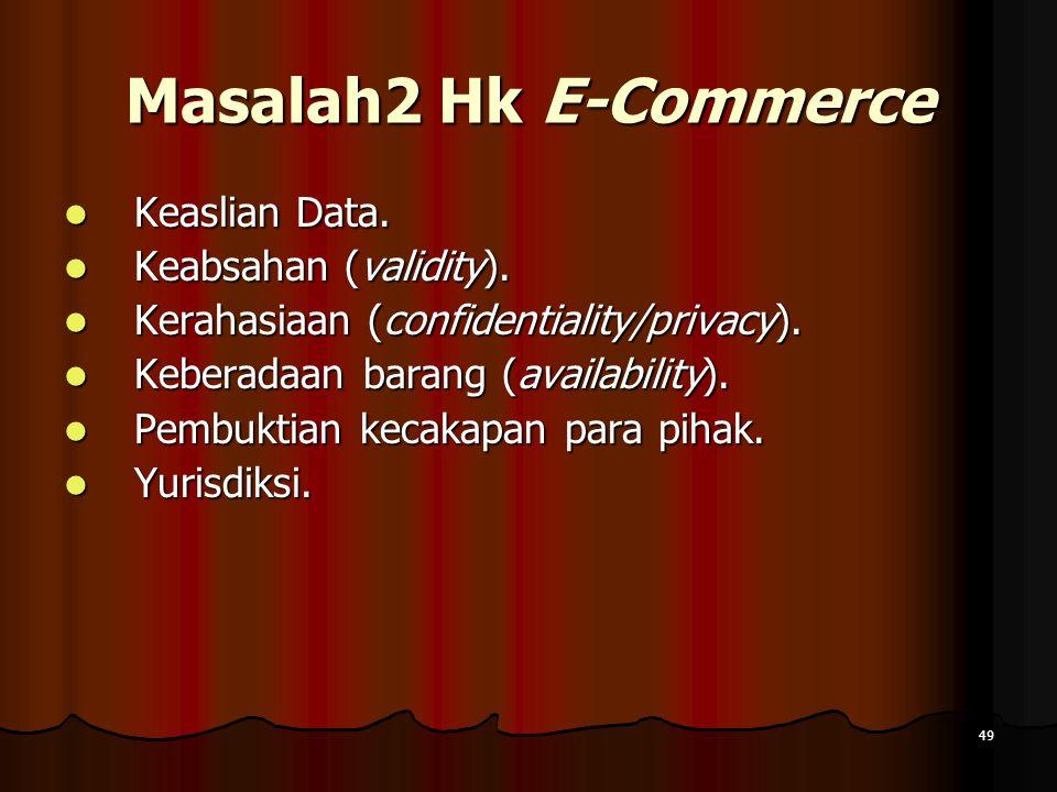 49 Masalah2 Hk E-Commerce Keaslian Data.Keaslian Data.