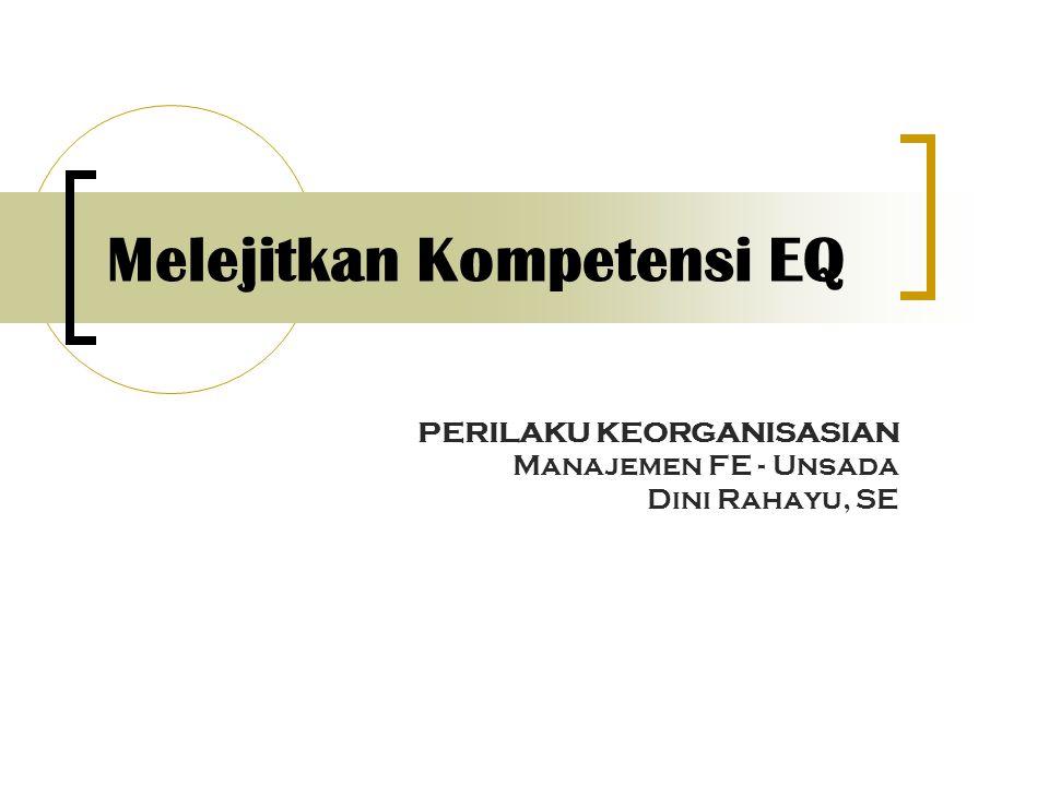 Melejitkan Kompetensi EQ PERILAKU KEORGANISASIAN Manajemen FE - Unsada Dini Rahayu, SE