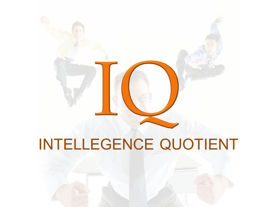 Intellegence Quotient Kapasitas umum seseorang untuk mengerjakan sesuatu Berhubungan dgn penalaran / berfikir Keseluruhan kemampuan individu untuk berfikir dan bertindak secara logis, terarah, serta mengolah dan menguasai lingkungan secara efektif (Pali, 1993) Pengukuran IQ (Bined, 1964) Very Superior : > 130 Superior : 120 – 129 Bright Normal : 110 – 119 Average : 90 – 109 Dull Normal : 80 – 89 Borderline : 70 – 79 Mental Defective : < 69