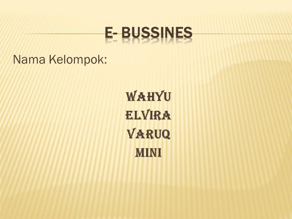 Nama Kelompok: Wahyu Elvira Varuq Mini