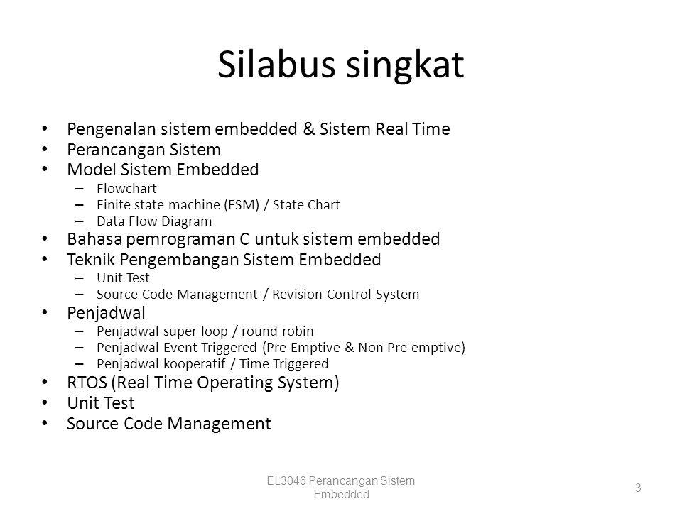 Contoh Sistem Embedded Consumer Electronic EL3046 Perancangan Sistem Embedded 14 Pabrik (proses kimia)