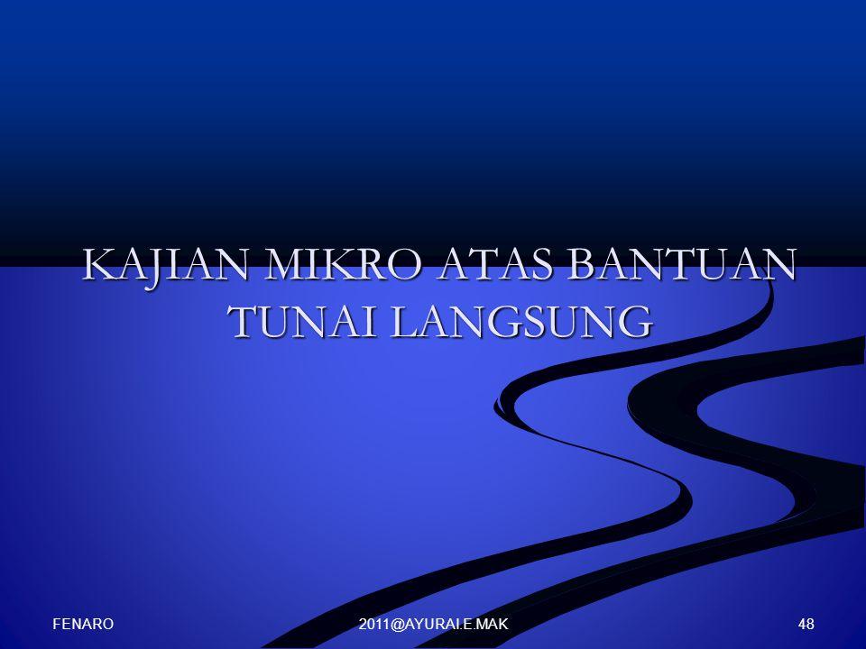 2011@AYURAI.E.MAK KAJIAN MIKRO ATAS BANTUAN TUNAI LANGSUNG FENARO 48