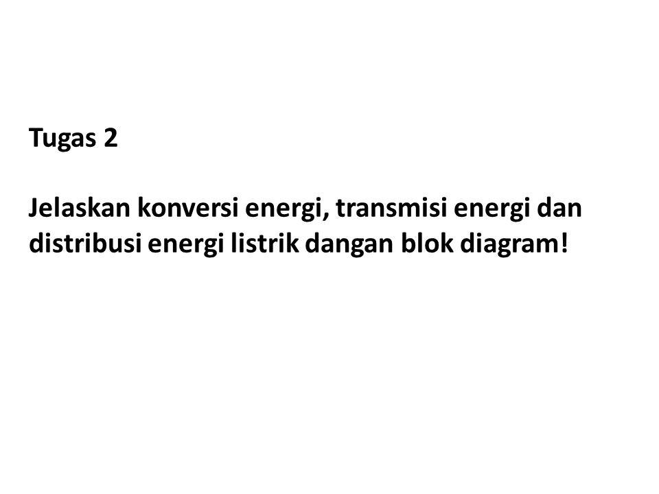 Tugas 2 Jelaskan konversi energi, transmisi energi dan distribusi energi listrik dangan blok diagram!