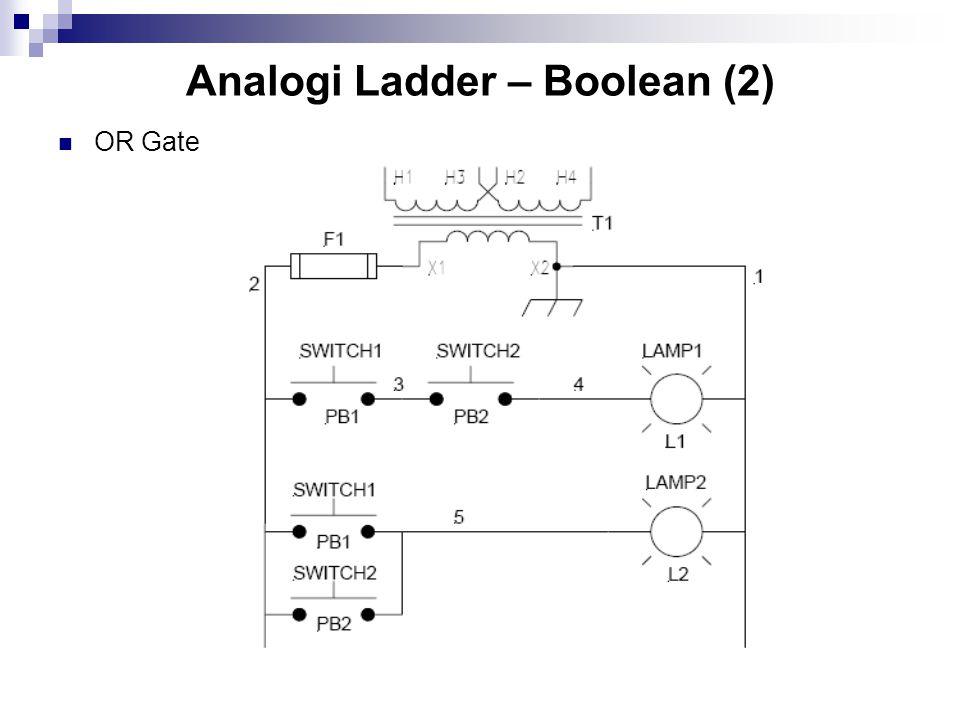 Analogi Ladder – Boolean (2) OR Gate