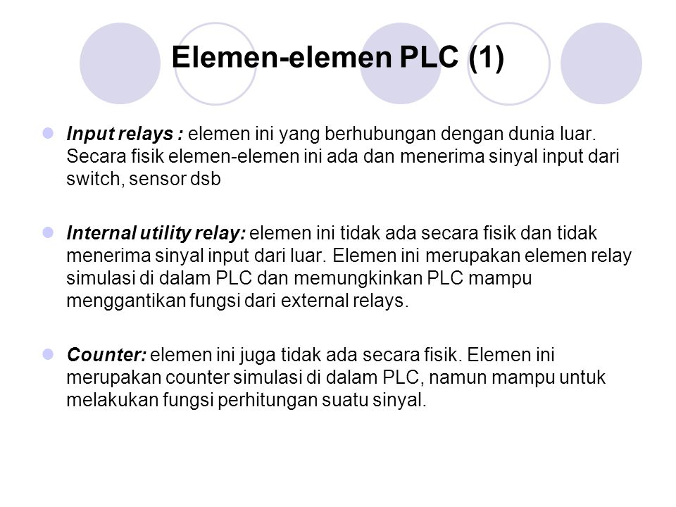 Diagram Ladder (2) Komponen utama:  load : input : : NO (normally open)  load : input : : NC (normally close)  coil : output : : relay  timer  counter