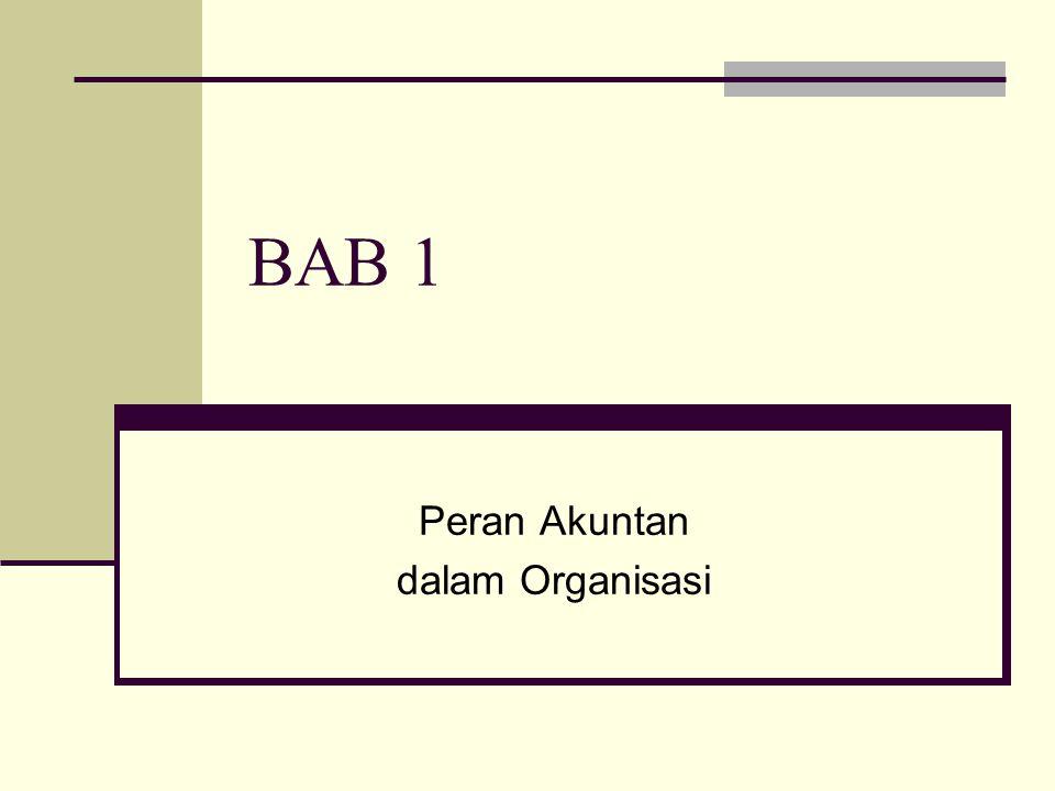 BAB 1 Peran Akuntan dalam Organisasi
