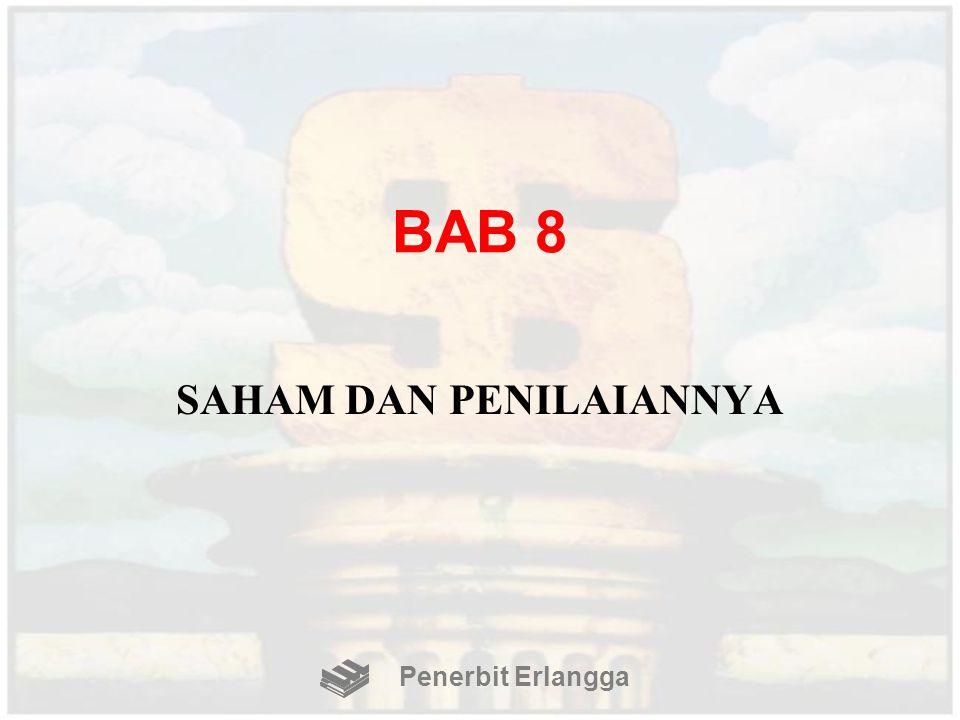 BAB 8 SAHAM DAN PENILAIANNYA Penerbit Erlangga