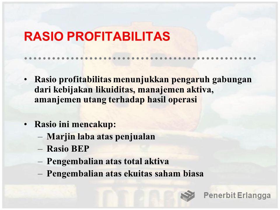RASIO PROFITABILITAS Rasio profitabilitas menunjukkan pengaruh gabungan dari kebijakan likuiditas, manajemen aktiva, amanjemen utang terhadap hasil op