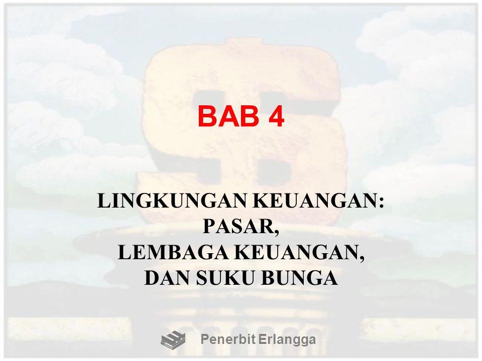 BAB 4 LINGKUNGAN KEUANGAN: PASAR, LEMBAGA KEUANGAN, DAN SUKU BUNGA Penerbit Erlangga