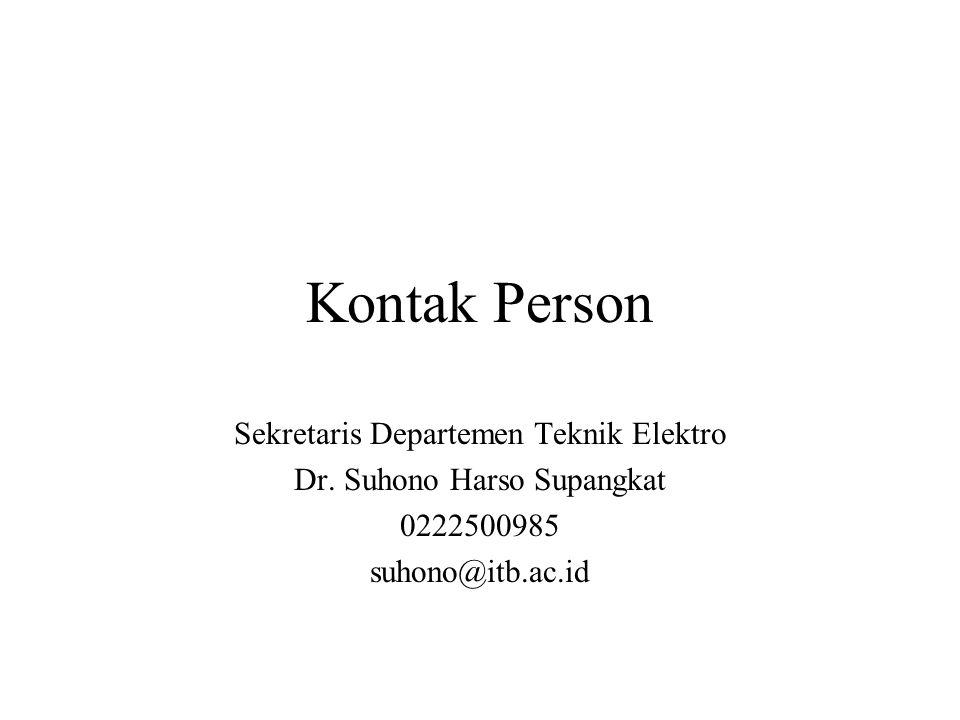 Kontak Person Sekretaris Departemen Teknik Elektro Dr.