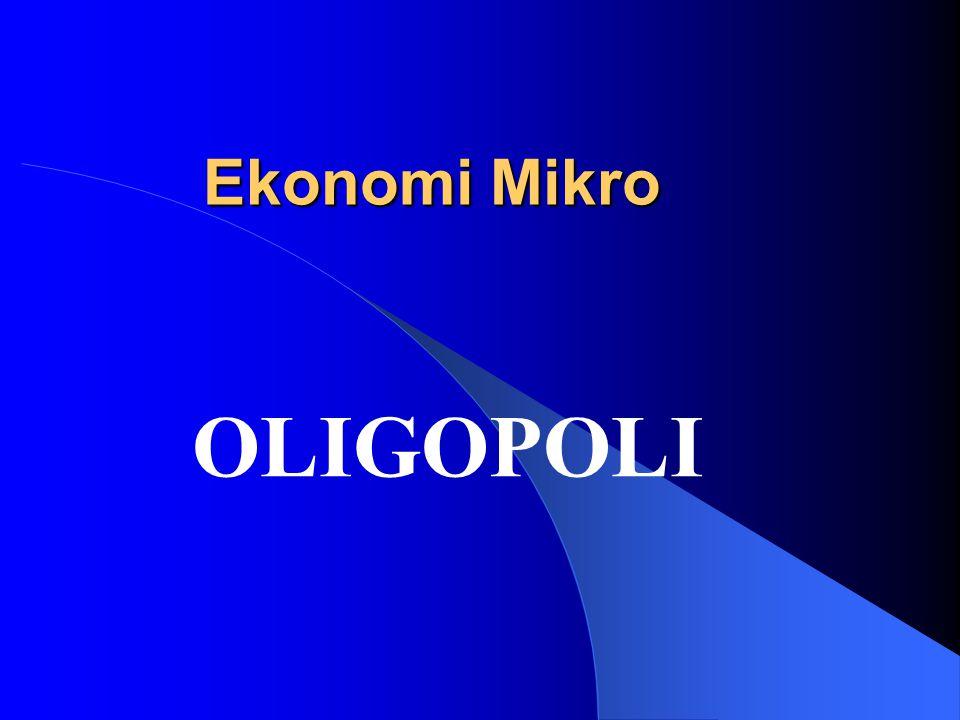 Definisi Pasar Oligopoli Pasar oligopoli adalah pasar yang hanya terdiri dari beberapa produsen saja.