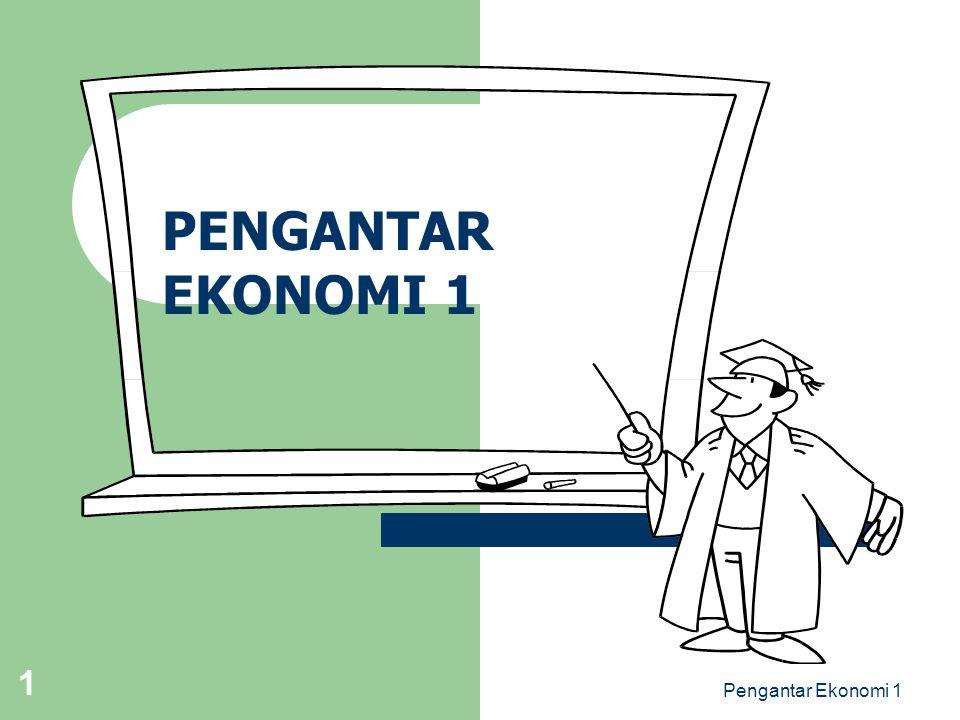 Pengantar Ekonomi 1 1 PENGANTAR EKONOMI 1