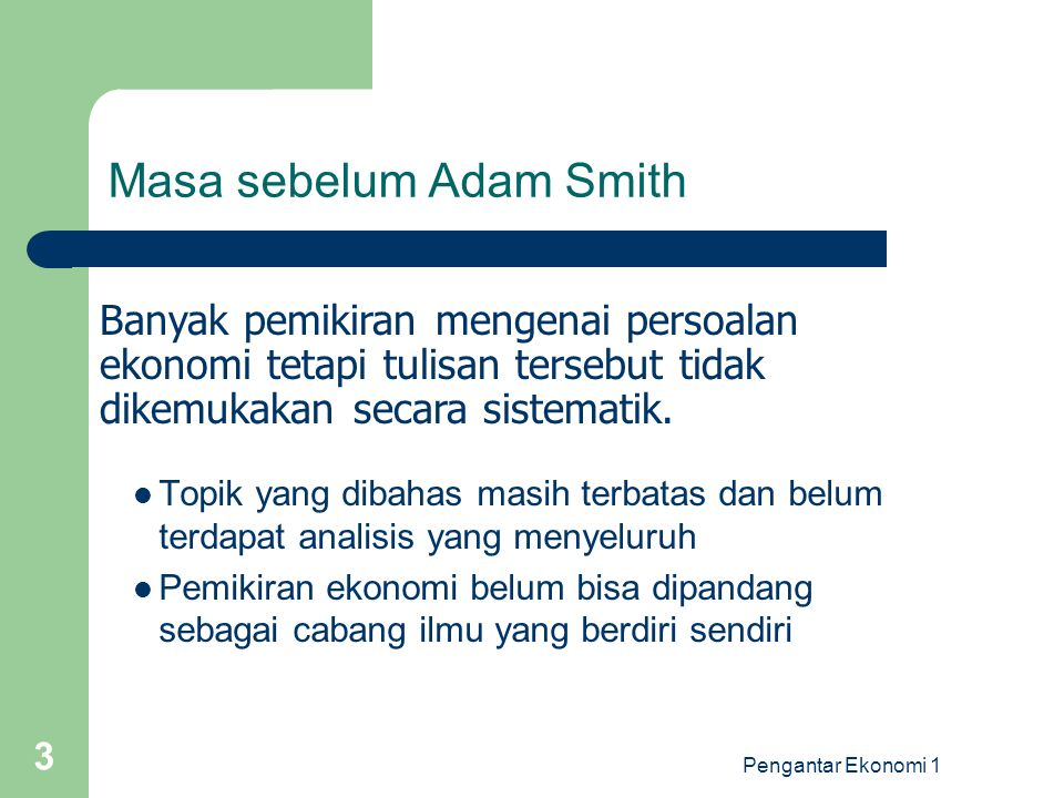 Pengantar Ekonomi 1 4 Adam Smith 1.