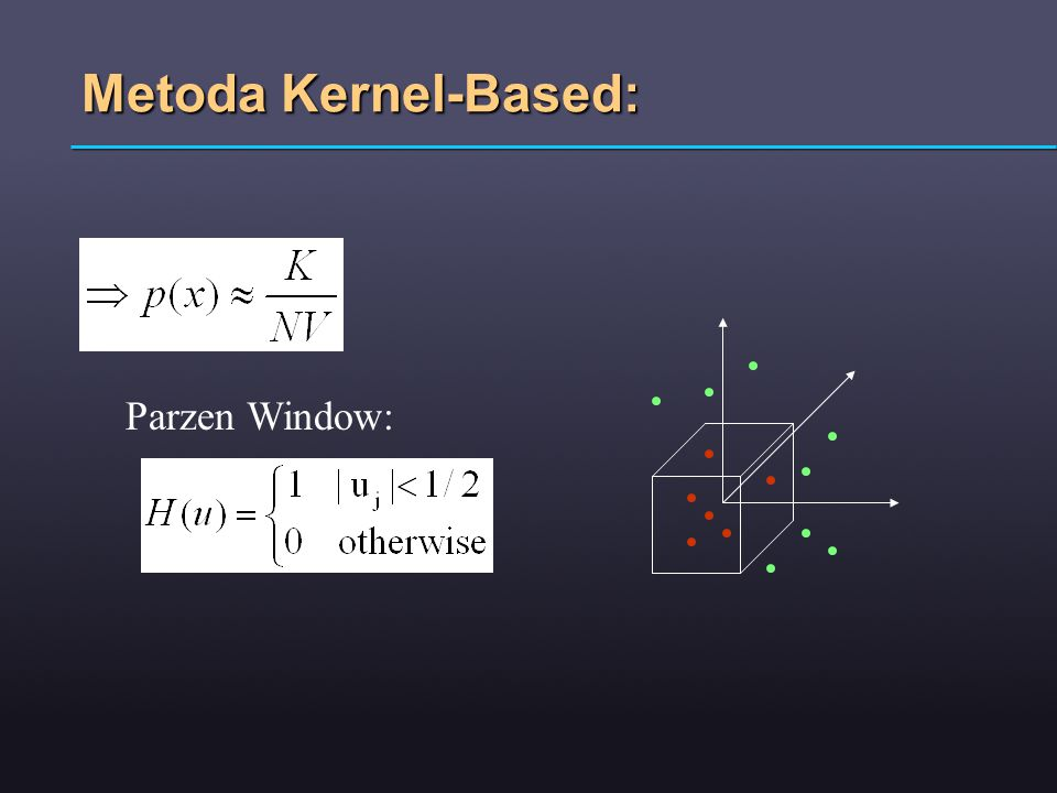 Metoda Kernel-Based: Parzen Window: