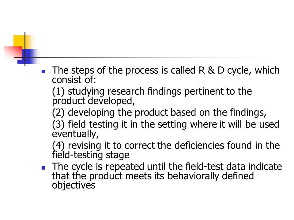 PENGEMBANGAN perencanaan pengembangan awal uji coba dan revisi produk preliminary field testing (uji terbatas) main field testing (uji skala luas) operational field testing (uji kelayakan)