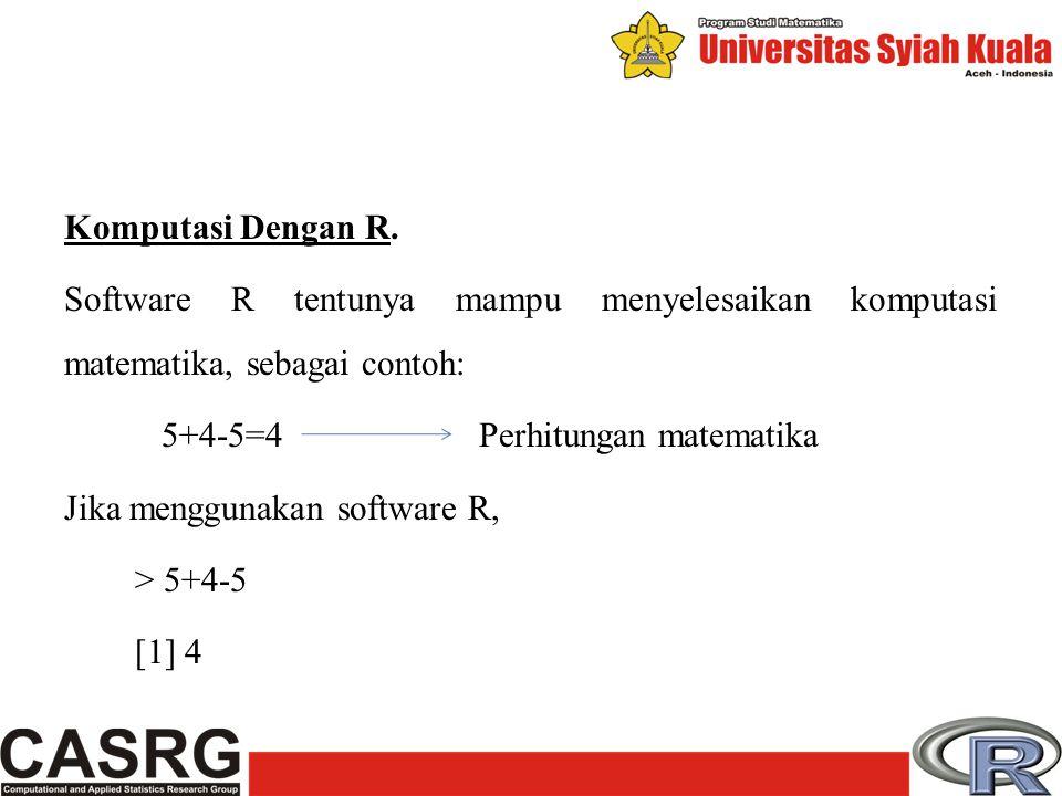 Komputasi Dengan R.