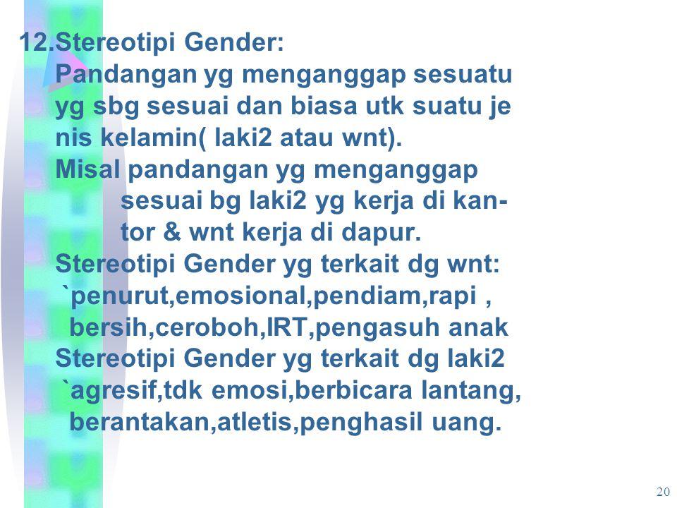 21 Hal-hal yg berkaitan dg Gender yg ber- pengaruh thd kes.: 1.Peran Gender: adanya peran ganda bg wnt sering kali merugikan kes.teru- tama saat menjalani kodratnya sbg perempuan(hamil,melahirkan,menyu- tama saat menjalani kodratnya sbg perempuan(hamil,melahirkan,menyu- sui).
