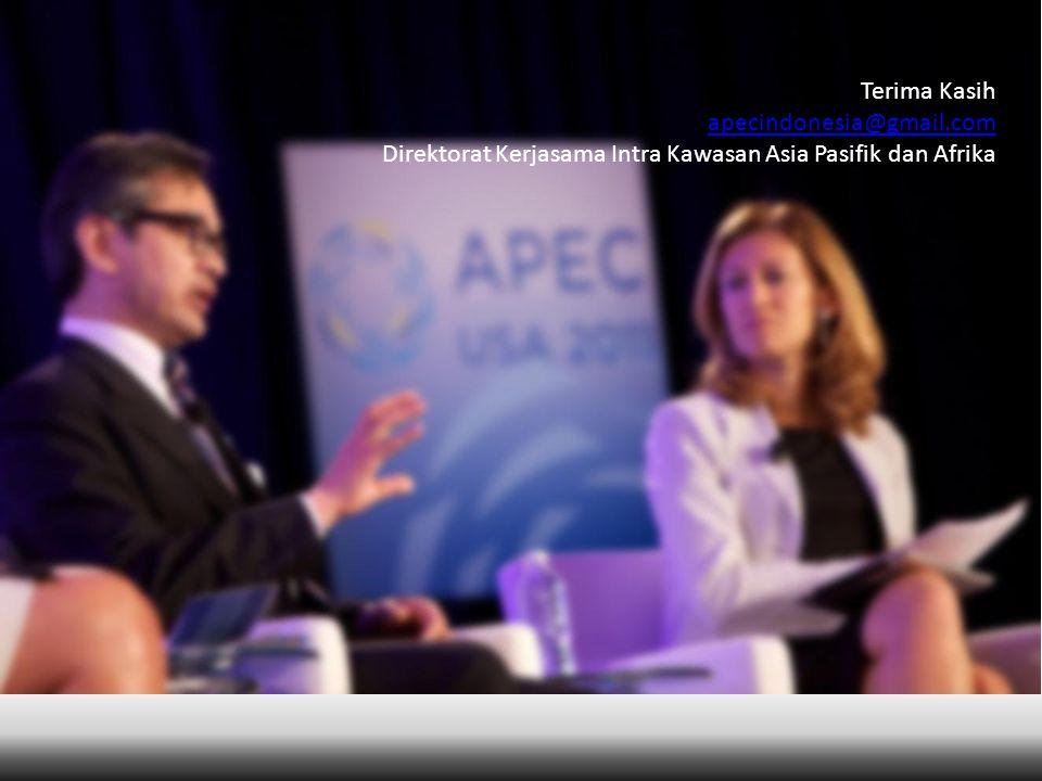 Terima Kasih apecindonesia@gmail.com Direktorat Kerjasama Intra Kawasan Asia Pasifik dan Afrika