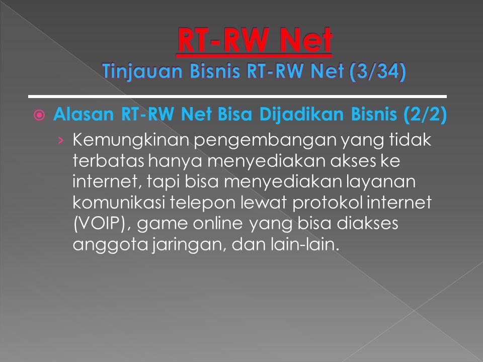  Alasan RT-RW Net Bisa Dijadikan Bisnis (2/2) › Kemungkinan pengembangan yang tidak terbatas hanya menyediakan akses ke internet, tapi bisa menyediak