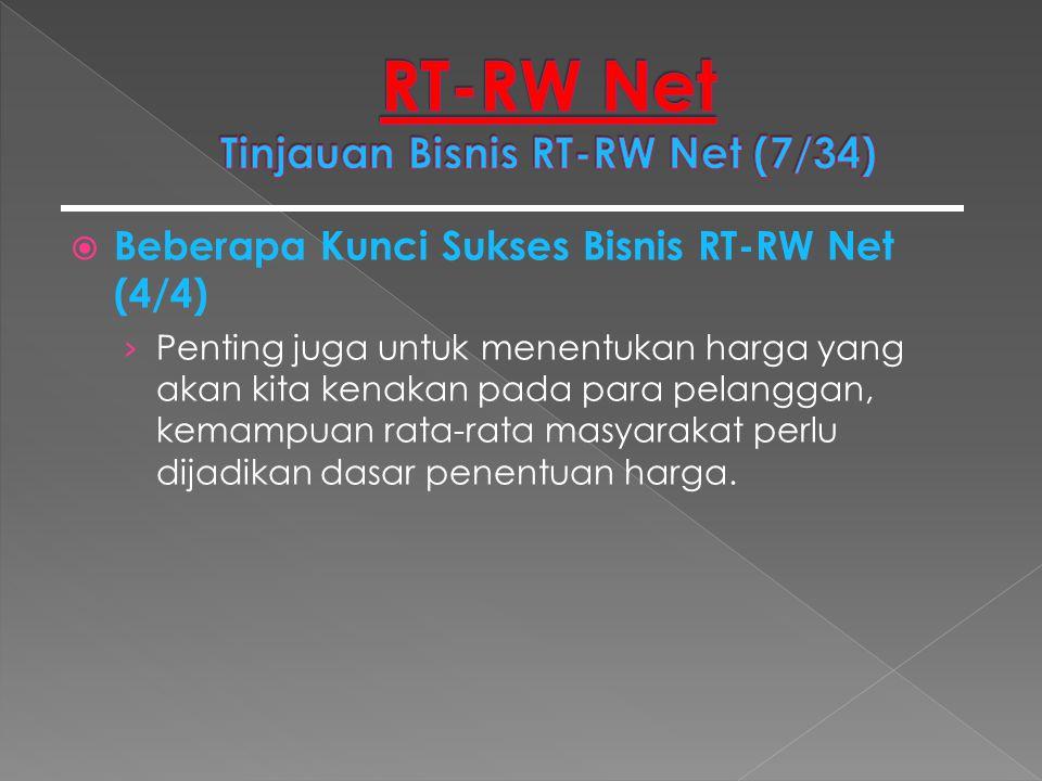  Beberapa Kunci Sukses Bisnis RT-RW Net (4/4) › Penting juga untuk menentukan harga yang akan kita kenakan pada para pelanggan, kemampuan rata-rata m