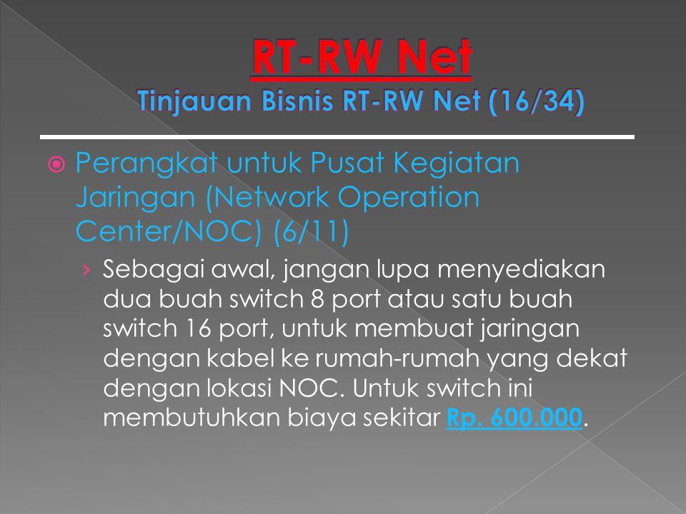  Perangkat untuk Pusat Kegiatan Jaringan (Network Operation Center/NOC) (6/11) › Sebagai awal, jangan lupa menyediakan dua buah switch 8 port atau sa