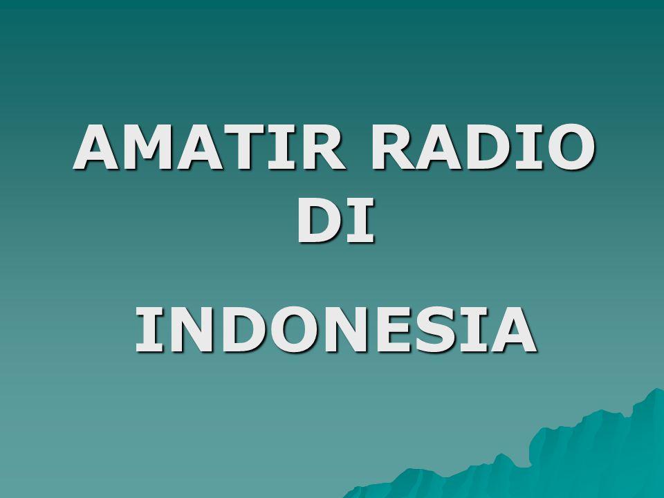 AMATIR RADIO DI INDONESIA