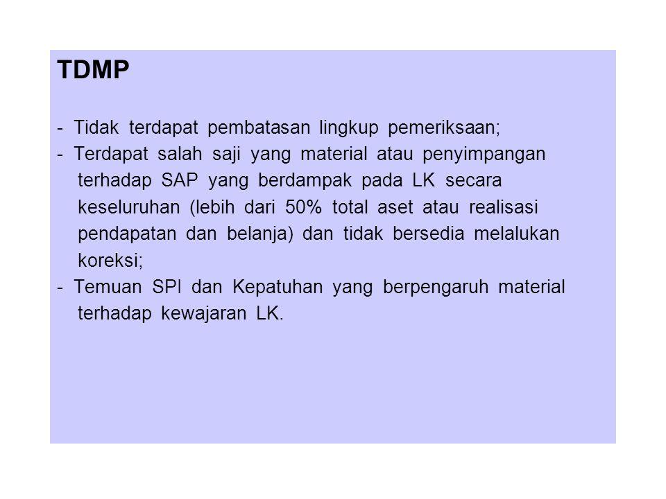 BATAS WAKTU PEMERIKSAAN (Ps 17 UU 15/2004) Laporan hasil pemeriksaan atas laporan keuangan pemerintah pusat disampaikan oleh BPK-RI kepada DPR-RI dan DPD selambat- lambatnya 2 (dua) bulan setelah menerima laporan keuangan dari pemerintah pusat.