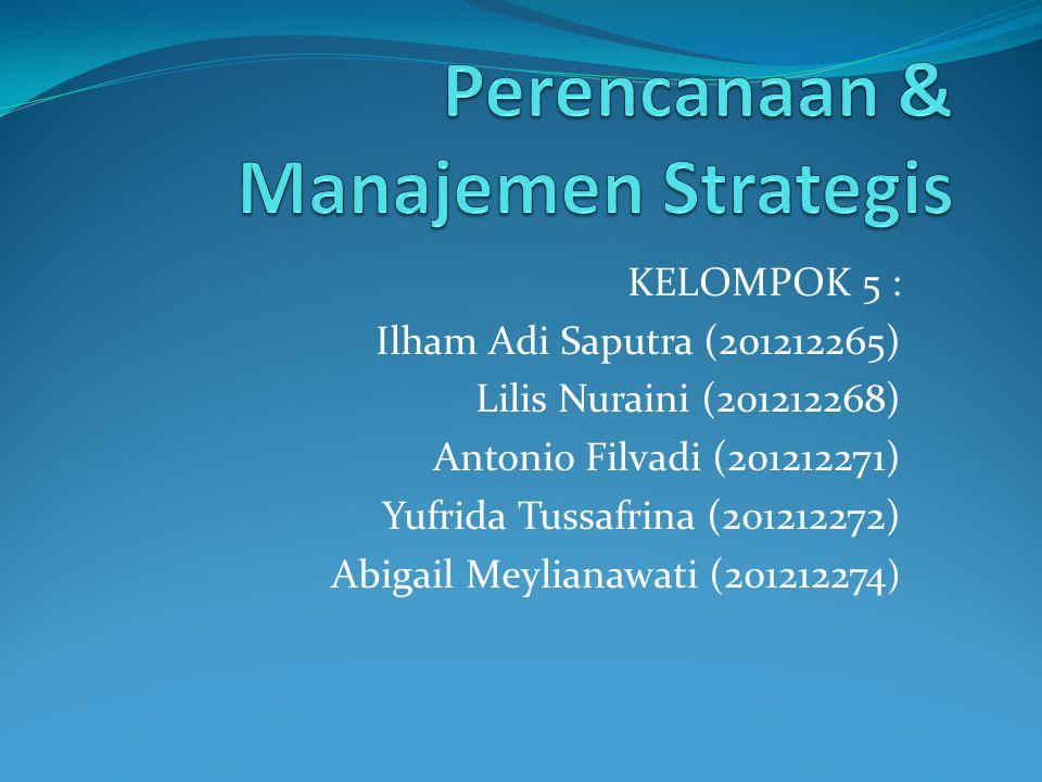 KELOMPOK 5 : Ilham Adi Saputra (201212265) Lilis Nuraini (201212268) Antonio Filvadi (201212271) Yufrida Tussafrina (201212272) Abigail Meylianawati (201212274 )