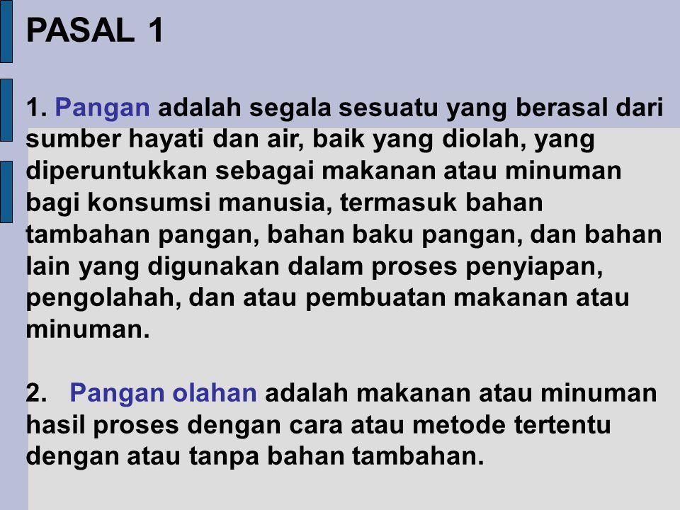 PASAL 1 1.