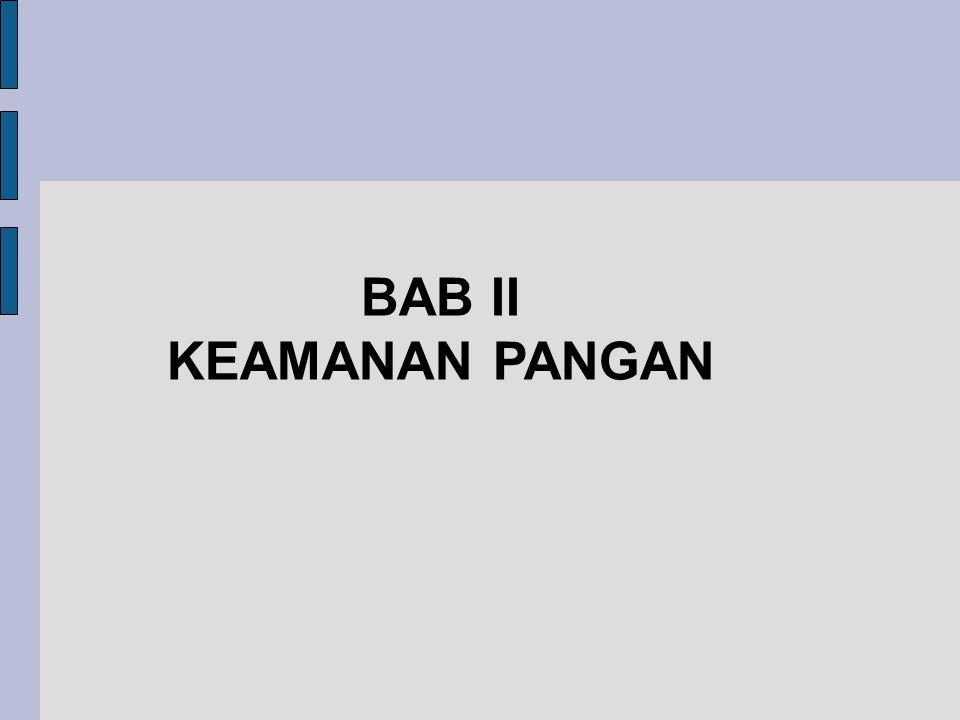 BAB II KEAMANAN PANGAN