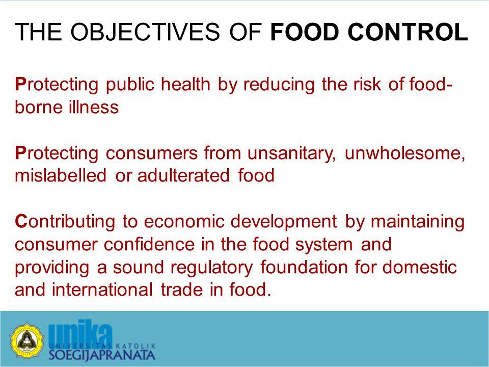 THE BUILDING BLOCKS OF FOOD CONTROL 1.Food Law & Regulations 2.