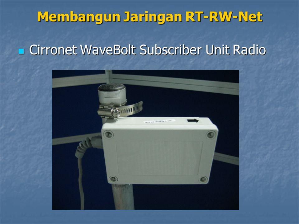 Cirronet WaveBolt Subscriber Unit Radio Cirronet WaveBolt Subscriber Unit Radio Membangun Jaringan RT-RW-Net