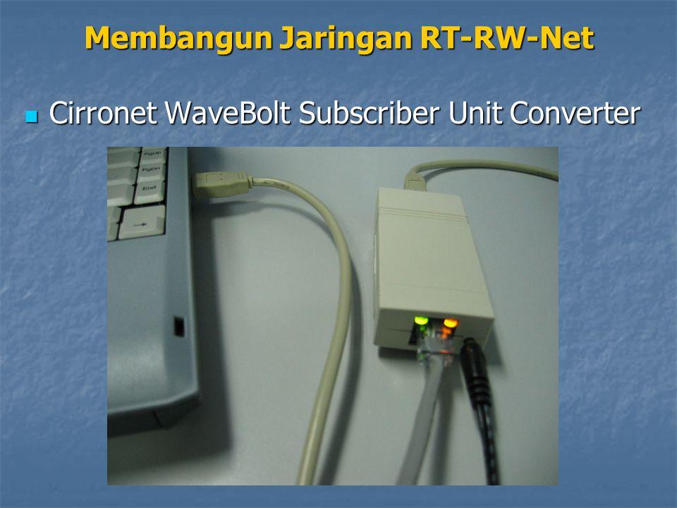 Cirronet WaveBolt Subscriber Unit Converter Cirronet WaveBolt Subscriber Unit Converter Membangun Jaringan RT-RW-Net
