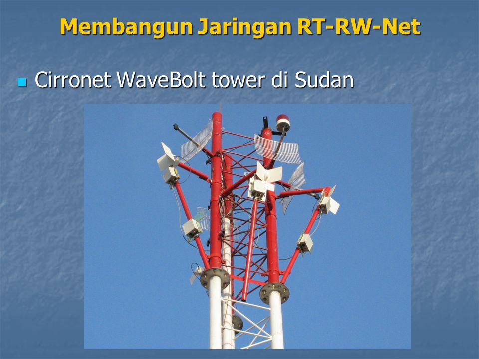 Cirronet WaveBolt tower di Sudan Cirronet WaveBolt tower di Sudan Membangun Jaringan RT-RW-Net