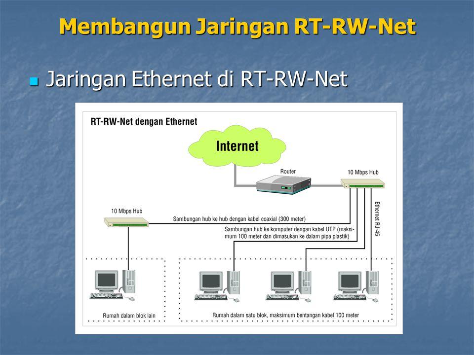 Jaringan Ethernet di RT-RW-Net Jaringan Ethernet di RT-RW-Net Membangun Jaringan RT-RW-Net